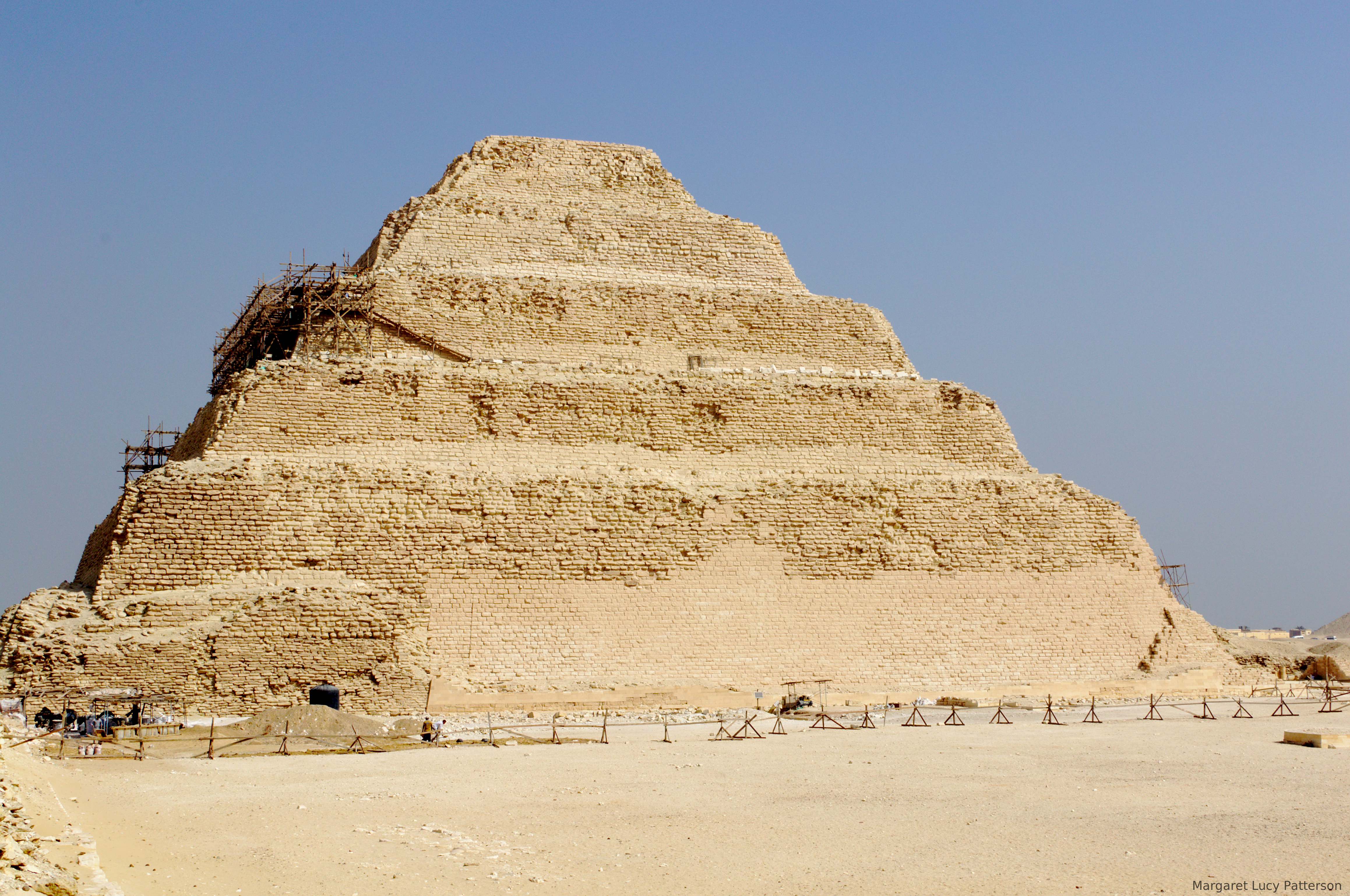 A photograph of the Step Pyramid at Saqqara.